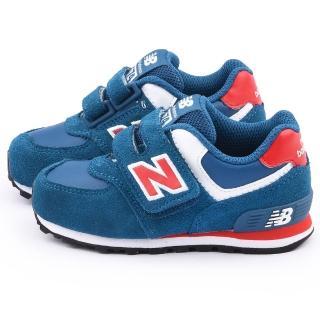 【NewBalance】小童 經典574復古運動鞋(KG574URI-藍)