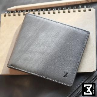 【74盎司】皮夾 Plain 平紋真皮短夾(N-465)