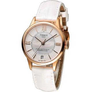 【天梭 TISSOT】杜魯爾系列優雅80小時機械腕錶(T0992073611800)