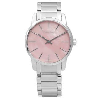 【Calvin Klein】都會女伶不鏽鋼腕錶 粉色 31mm(K2G2314E)