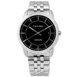 【Calvin Klein】Infinite 卓越自信質感不鏽鋼機械腕錶 黑色 42mm(K5S34141)
