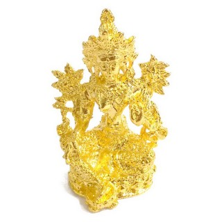 【十相自在】4.5公分 小佛像/法像-金色(綠度母)