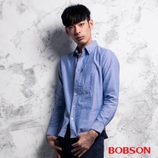 【BOBSON】男款胸開袋素面襯衫(35001-58)