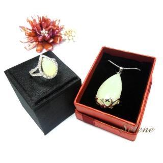 【Selene珠寶】典雅羊脂白玉套組