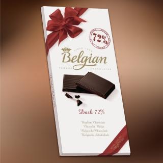 【Belgian‧白儷人】72%醇黑巧克力(100g)