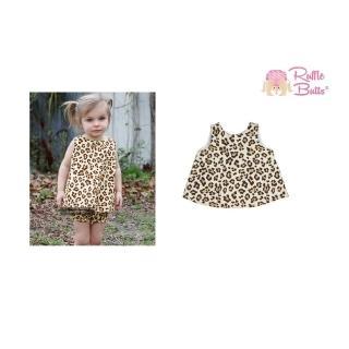 【美國 RuffleButts】小女童甜美荷葉邊搖擺/洋裝_野性豹紋(BRSW12)