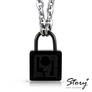 【STORY ACCESSORY】愛的生存之道-心鎖項鍊-男款(愛的生存之道 心 鎖 項鍊)