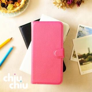 【CHIUCHIU】iPhone 6s Plus荔枝紋側掀式可插卡立架型保護皮套