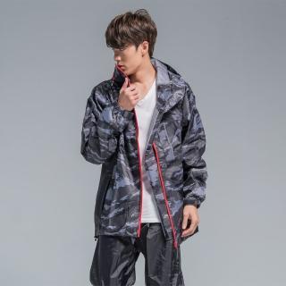 【BrightDay君邁雨衣】玩酷迷彩兩件式風雨衣(機車雨衣、戶外雨衣)