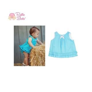 【美國 RuffleButts】小女童甜美荷葉邊搖擺/洋裝_清爽海洋藍(BRSW02)