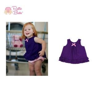 【美國 RuffleButts】小女童甜美荷葉邊搖擺/洋裝_葡萄紫(BRSW04)