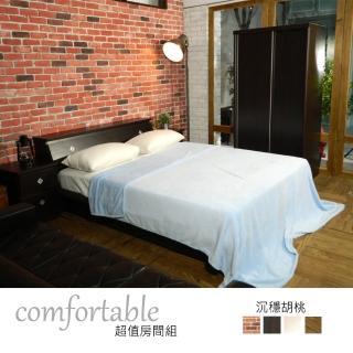 【時尚屋】絲特床箱型4件房間組-床箱+掀床+床頭櫃1個+衣櫃-四色可選(1WG5-14W)