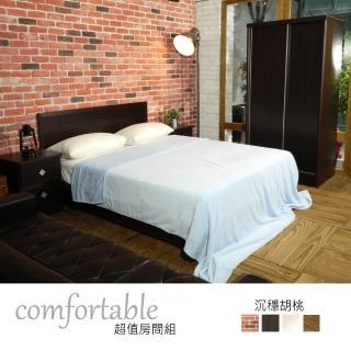 【時尚屋】絲特床片型4件房間組-床片+掀床+床頭櫃1個+衣櫃-四色可選(1WG5-32W)