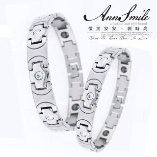 【微笑安安】霧亮相間亮鑽鍺石鋼手鍊(共2款)