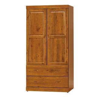 【AS】Aileen玉桂實木3尺(雙門雙抽衣櫥/衣櫃)