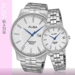 【SEIKO 精工 ALBA 系列】甜蜜浪漫情侶對錶(AG8513X1+AV3293X1)