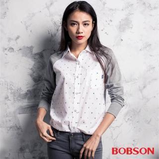 【BOBSON】女款異素材襯衫(35091-01)