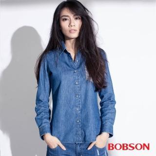 【BOBSON】女款異素材襯衫(35100-53)