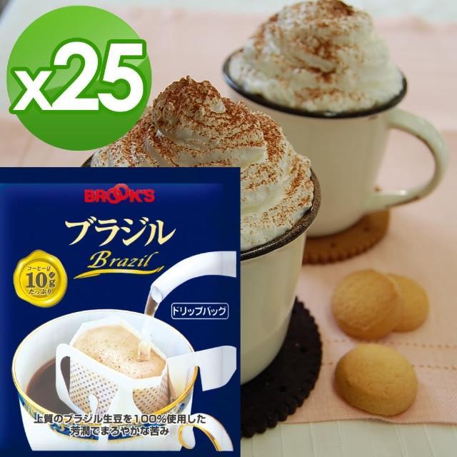 【日本布魯克斯】巴西極品掛耳式濾泡咖啡(25入獨享袋)