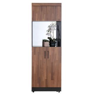 【AT HOME】尚恩2X6尺雙色中空鏡面高鞋櫃
