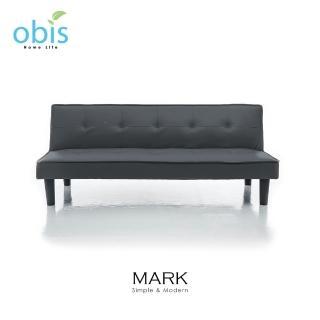 【obis】MARK 現代風都會皮質沙發床(四色可選)