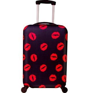 性感紅唇行李箱防塵亮彩保護套(22-26吋適用)