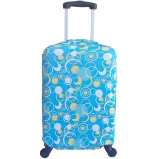 藍色新月行李箱防塵亮彩保護套(22-26吋適用)