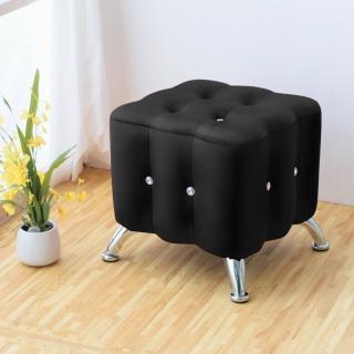【Bernice】凱莉時尚水鑽小沙發椅(黑色)