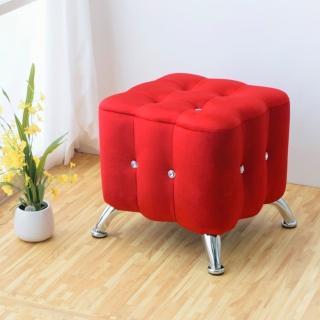 【Bernice】凱莉時尚水鑽小沙發椅(紅色)