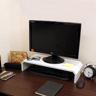 【美佳居】鐵板製-桌上型置物架/螢幕架(二色可選)