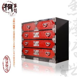 【桐簞笥】雋臻傳世-頂級五階整理簞笥 赤塗 幅86cm