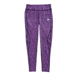 【KAPPA】義大利 舒適尚女針織九分慢跑緊身褲 合身尺寸(1件暗紫)