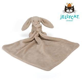 【英國 JELLYCAT】兔子造型安撫巾(灰色 約33*33公分)