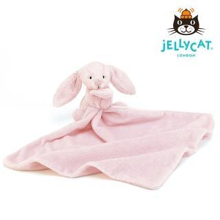【英國 JELLYCAT】兔子造型安撫巾(粉紅色 約33*33公分)