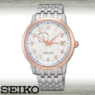 【SEIKO 精工】自動上鍊機械錶_藍寶石水晶_防水大鏡面4cm男錶(SSA090J1)