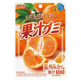 【明治】果汁QQ糖-溫州蜜柑51g(軟糖)
