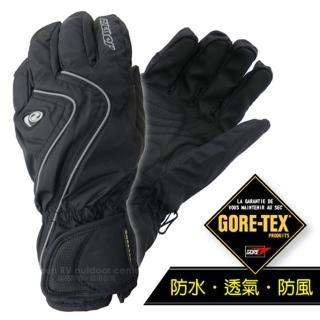 【德國 ZIENER】最新超薄 探險家 Gore-Tex 耐磨防水透氣手套.防風保暖(黑 AR-42)