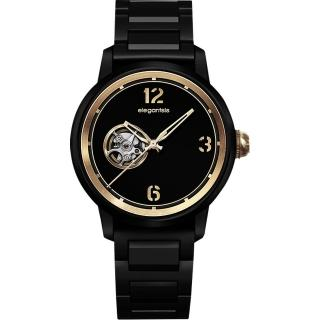 【elegantsis】GOLDEN FASHION JT75A鏤空機械錶(ELJT75A-NB01MA)