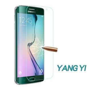 【YANG YI 揚邑】Samsung S6 edge 9H鋼化玻璃保護膜(3D滿版 防爆防刮防眩)