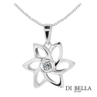 【DI BELLA】雋永綻放天然鑽石墜鍊(3分)
