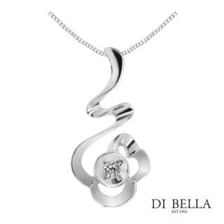 【DI BELLA】花之精靈天然鑽石墜鍊(3分)