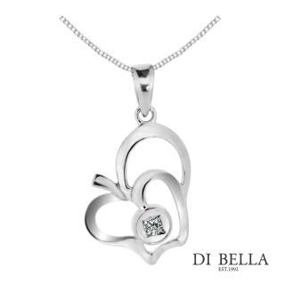 【DI BELLA】漫遊伊甸園天然鑽石墜鍊(3分)