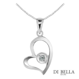 【DI BELLA】愛戀天使天然鑽石墜鍊(3分)