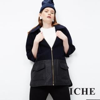 【ICHE 衣哲】翻領挺版羊毛外套