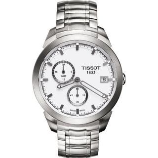 【TISSOT】Titanium GMT 時尚鈦金屬二地時區腕錶(T0694394403100)