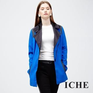 【ICHE 衣哲】翻領拼接長版大衣