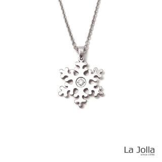 【La Jolla】雪花 純鈦墜項鍊(銀色)