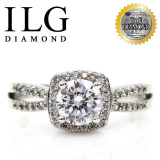 【ILG鑽】頂級八心八箭擬真鑽石戒指-威尼斯戀人 RI083 主鑽75分 細緻熱銷款(白K金色)