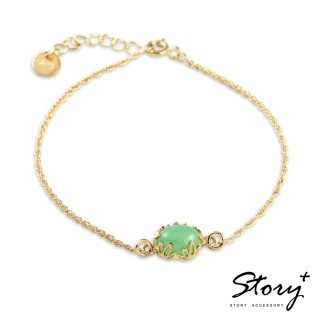【STORY ACCESSORY】璽愛-天然寶石系列-綻放 純銀手鍊(天然寶石 花邊 蕾絲 手鍊)