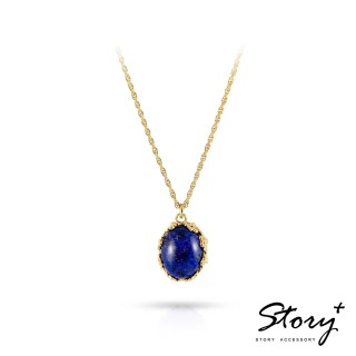 【STORY ACCESSORY】璽愛-天然寶石系列-絢爛 純銀項鍊(天然寶石 花邊 蕾絲 項鍊)
